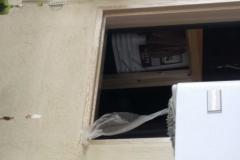 left plastic and staples in door mouldin